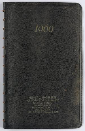 Roy Eldridge's datebook for January-November 1960, Calendar for Roy Eldridge: 1960