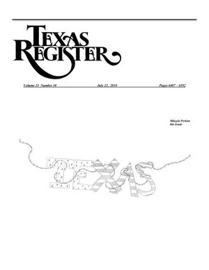 Primary view of object titled 'Texas Register, Volume 35, Number 30, Pages 6407-6592, July 23, 2010'.
