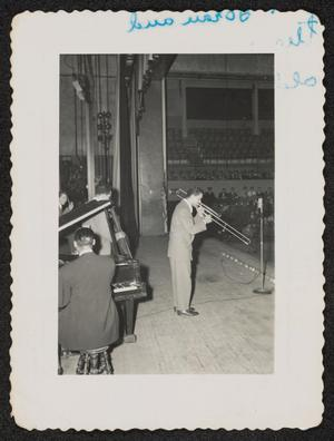 Trombonist Trummy Young in performance