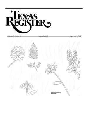 Primary view of object titled 'Texas Register, Volume 35, Number 33, Pages 6869-7154, August 13, 2010'.