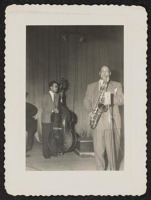 Tenor saxophonist Coleman Hawkins and bassist