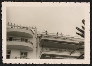 People on a balcony