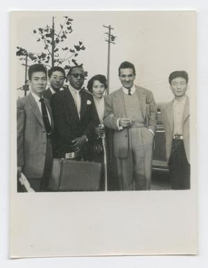 Roy Eldridge and Gene Krupa in group photo