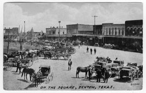 Primary view of object titled 'Picture Postcard of Denton Square'.