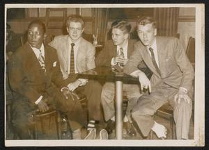 Roy Eldridge with three young men