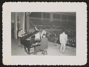 Jazz ensemble in performance