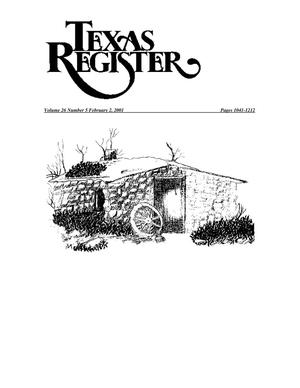 Primary view of object titled 'Texas Register, Volume 26, Number 5, Pages 1041-1212, February 2, 2001'.