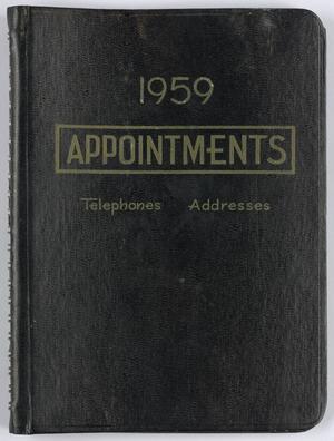 Roy Eldridge's datebook for January-February 1959, Calendar for Roy Eldridge: 1959