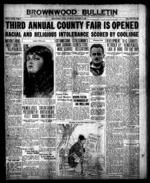 Brownwood Bulletin (Brownwood, Tex.), Vol. 25, No. 303, Ed. 1 Tuesday, October 6, 1925