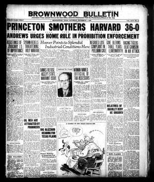 Brownwood Bulletin (Brownwood, Tex.), Vol. 26, No. 21, Ed. 1 Saturday, November 7, 1925