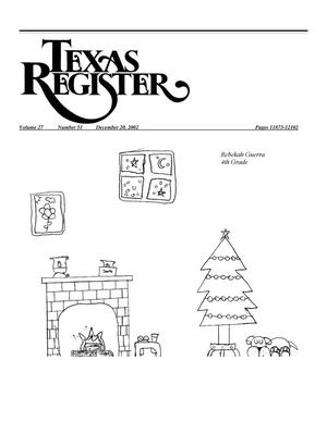 Primary view of object titled 'Texas Register, Volume 27, Number 51, Pages 11873-12102, December 20, 2002'.