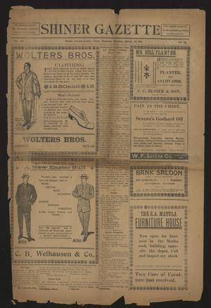 Primary view of Shiner Gazette (Shiner, Tex.), Vol. 20, No. 29, Ed. 1 Thursday, March 20, 1913