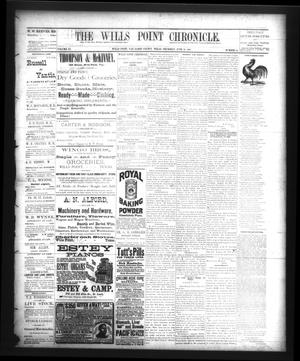Primary view of object titled 'The Wills Point Chronicle. (Wills Point, Tex.), Vol. 11, No. 25, Ed. 1 Thursday, June 21, 1888'.
