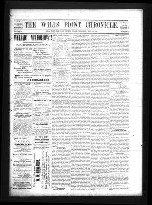 Primary view of The Wills Point Chronicle. (Wills Point, Tex.), Vol. 9, No. 19, Ed. 1 Thursday, May 13, 1886