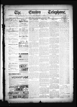 The Canton Telephone. (Canton, Tex.), Vol. 5, No. 9, Ed. 1 Saturday, August 14, 1886