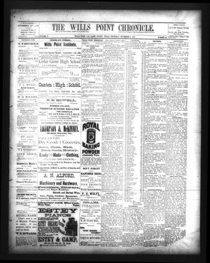 The Wills Point Chronicle. (Wills Point, Tex.), Vol. 10, No. 46, Ed. 1 Thursday, November 17, 1887