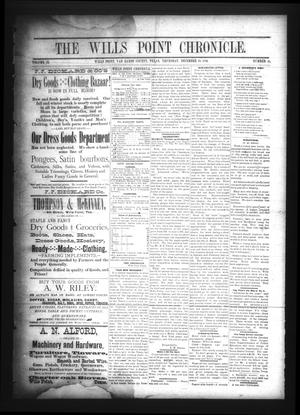 The Wills Point Chronicle. (Wills Point, Tex.), Vol. 9, No. 51, Ed. 1 Thursday, December 23, 1886