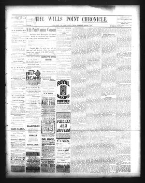 Primary view of The Wills Point Chronicle. (Wills Point, Tex.), Vol. 10, No. 31, Ed. 1 Thursday, August 4, 1887