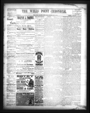 Primary view of object titled 'The Wills Point Chronicle. (Wills Point, Tex.), Vol. 11, No. 21, Ed. 1 Thursday, May 24, 1888'.