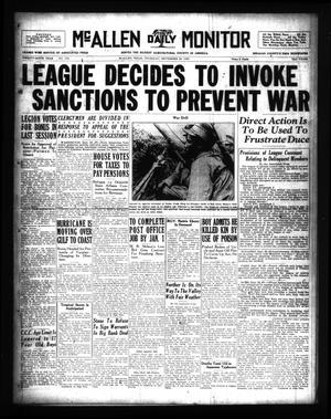 Primary view of McAllen Daily Monitor (McAllen, Tex.), Vol. 26, No. 178, Ed. 1 Thursday, September 26, 1935