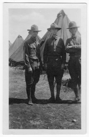 Three Men in Uniform at Camp Mabry, Austin