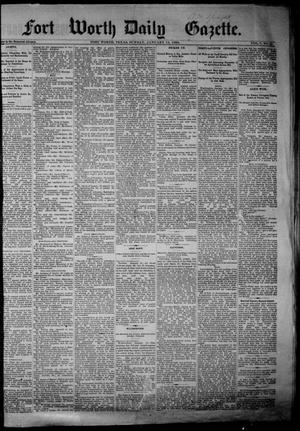 Primary view of object titled 'Fort Worth Daily Gazette. (Fort Worth, Tex.), Vol. 7, No. 25, Ed. 1, Sunday, January 14, 1883'.