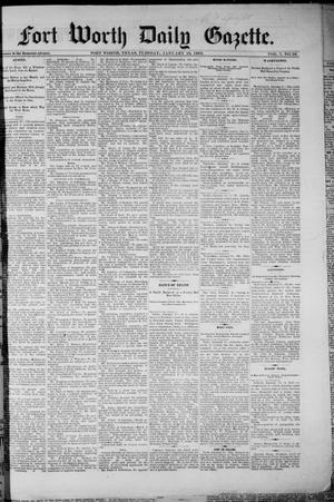 Primary view of object titled 'Fort Worth Daily Gazette. (Fort Worth, Tex.), Vol. 7, No. 26, Ed. 1, Tuesday, January 16, 1883'.