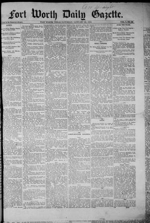 Fort Worth Daily Gazette. (Fort Worth, Tex.), Vol. 7, No. 30, Ed. 1, Saturday, January 20, 1883