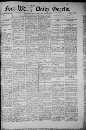 Fort Worth Daily Gazette. (Fort Worth, Tex.), Vol. 7, No. 34, Ed. 1, Friday, January 26, 1883