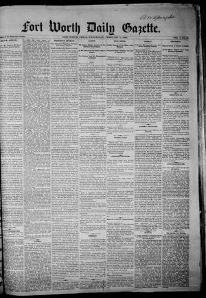 Primary view of object titled 'Fort Worth Daily Gazette. (Fort Worth, Tex.), Vol. 7, No. 44, Ed. 1, Wednesday, February 7, 1883'.