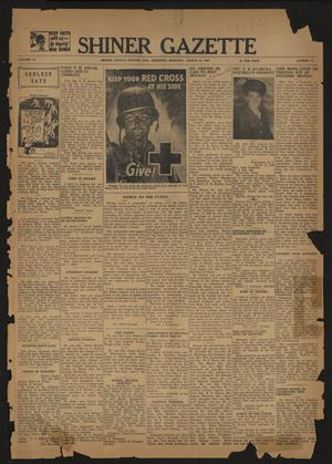 Primary view of object titled 'Shiner Gazette (Shiner, Tex.), Vol. 51, No. 12, Ed. 1 Thursday, March 22, 1945'.
