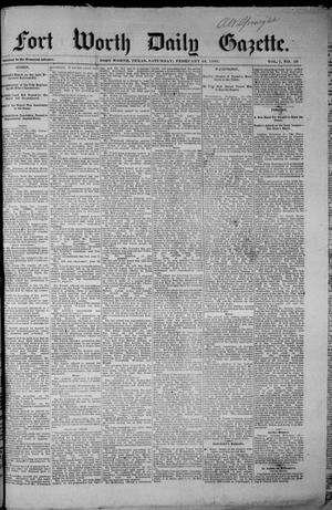 Primary view of object titled 'Fort Worth Daily Gazette. (Fort Worth, Tex.), Vol. 7, No. 59, Ed. 1, Saturday, February 24, 1883'.