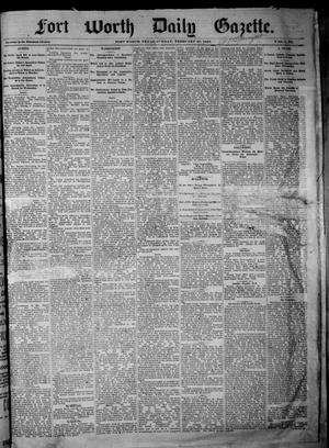 Primary view of object titled 'Fort Worth Daily Gazette. (Fort Worth, Tex.), Vol. 7, No. 60, Ed. 1, Sunday, February 25, 1883'.