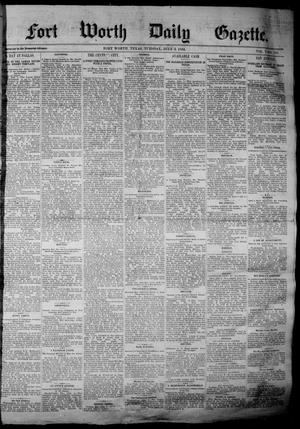 Primary view of object titled 'Fort Worth Daily Gazette. (Fort Worth, Tex.), Vol. 7, No. 176, Ed. 1, Tuesday, July 3, 1883'.