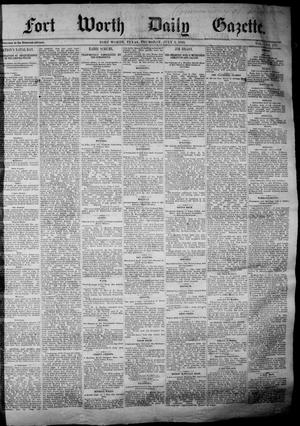 Fort Worth Daily Gazette. (Fort Worth, Tex.), Vol. 7, No. 178, Ed. 1, Thursday, July 5, 1883