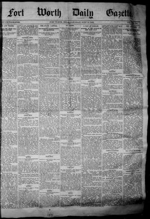 Primary view of object titled 'Fort Worth Daily Gazette. (Fort Worth, Tex.), Vol. 7, No. 188, Ed. 1, Saturday, July 14, 1883'.