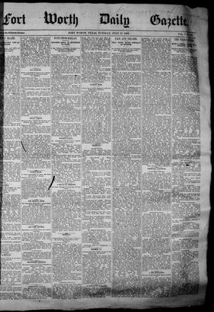 Primary view of object titled 'Fort Worth Daily Gazette. (Fort Worth, Tex.), Vol. 7, No. 191, Ed. 1, Tuesday, July 17, 1883'.