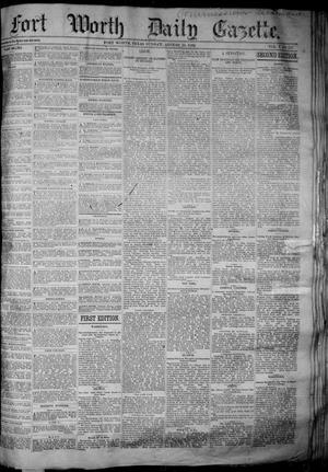 Fort Worth Daily Gazette. (Fort Worth, Tex.), Vol. 7, No. 231, Ed. 1, Sunday, August 26, 1883