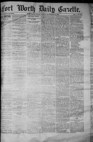Primary view of object titled 'Fort Worth Daily Gazette. (Fort Worth, Tex.), Vol. 7, No. 250, Ed. 1, Monday, September 10, 1883'.
