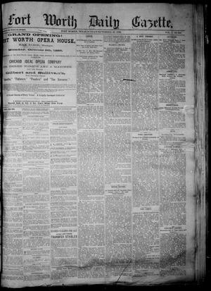 Primary view of object titled 'Fort Worth Daily Gazette. (Fort Worth, Tex.), Vol. 7, No. 269, Ed. 1, Sunday, September 30, 1883'.
