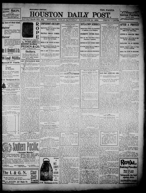 Primary view of object titled 'The Houston Daily Post (Houston, Tex.), Vol. 14, No. 231, Ed. 1, Saturday, November 19, 1898'.