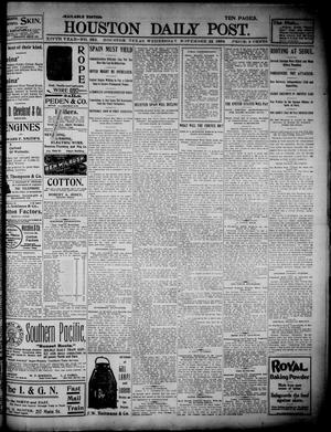 Primary view of object titled 'The Houston Daily Post (Houston, Tex.), Vol. 14, No. 235, Ed. 1, Wednesday, November 23, 1898'.
