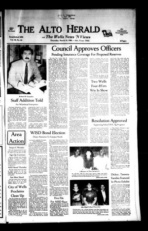 The Alto Herald and The Wells News 'N Views (Alto, Tex.), Vol. 90, No. 44, Ed. 1 Thursday, March 13, 1986