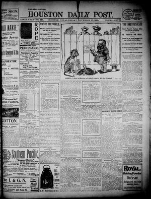 Primary view of object titled 'The Houston Daily Post (Houston, Tex.), Vol. 14, No. 237, Ed. 1, Friday, November 25, 1898'.