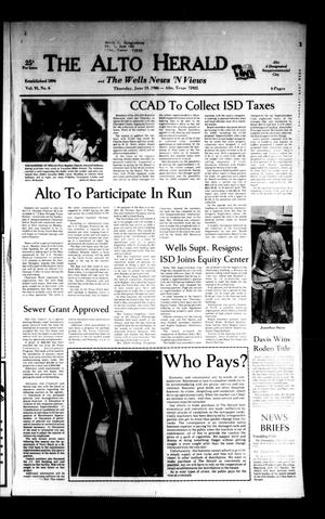 The Alto Herald and The Wells News 'N Views (Alto, Tex.), Vol. 91, No. 6, Ed. 1 Thursday, June 19, 1986