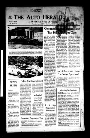 The Alto Herald and The Wells News 'N Views (Alto, Tex.), Vol. 91, No. 13, Ed. 1 Thursday, August 7, 1986