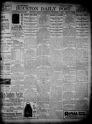 Primary view of object titled 'The Houston Daily Post (Houston, Tex.), Vol. 14, No. 249, Ed. 1, Wednesday, December 7, 1898'.