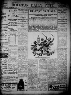 Primary view of object titled 'The Houston Daily Post (Houston, Tex.), Vol. 14, No. 251, Ed. 1, Friday, December 9, 1898'.