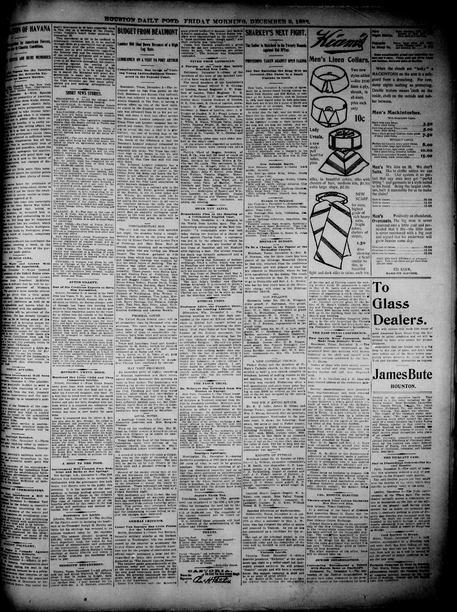 The Houston Daily Post (Houston, Tex.), Vol. 14, No. 251, Ed. 1, Friday, December 9, 1898                                                                                                      [Sequence #]: 3 of 12
