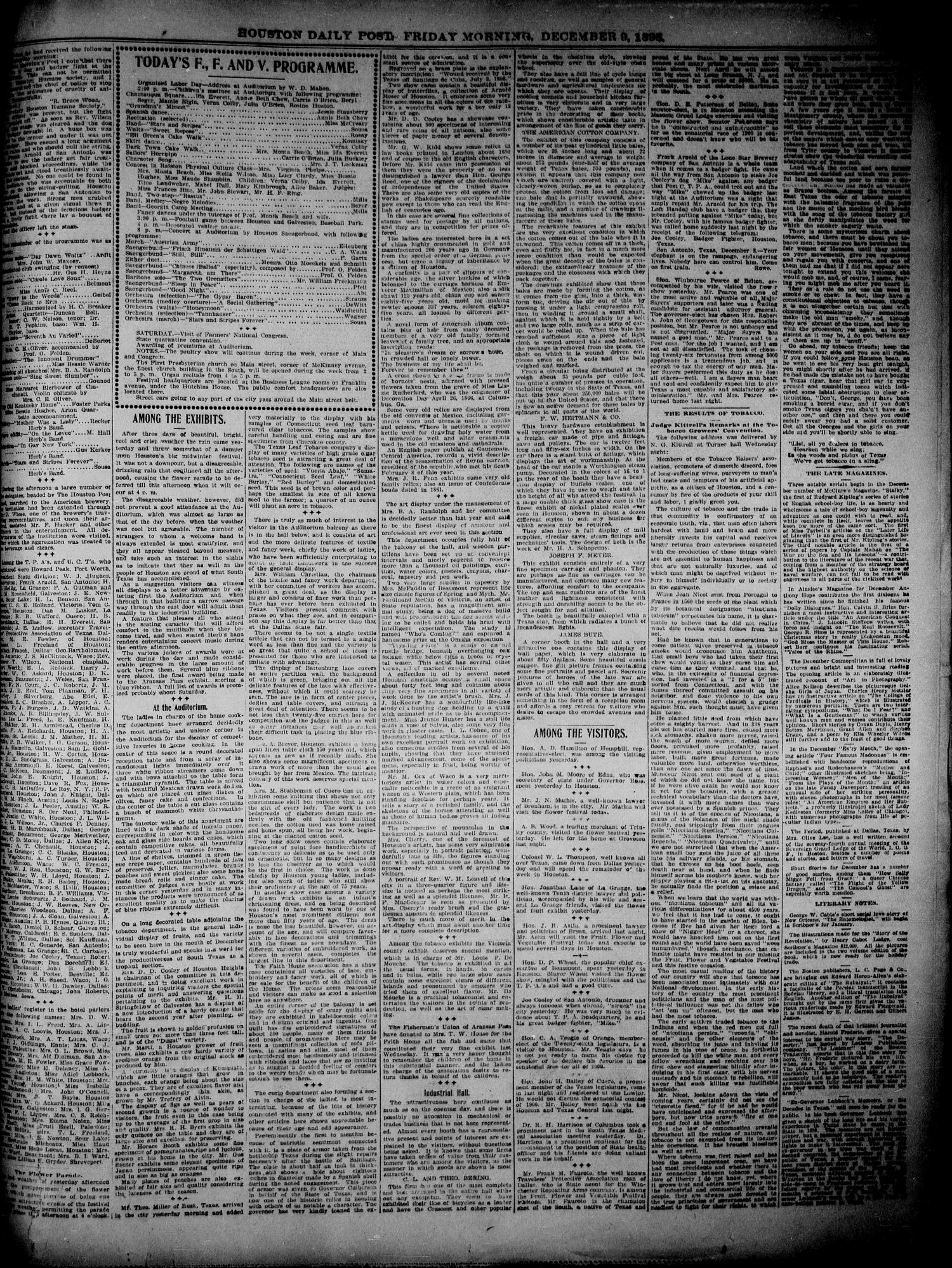 The Houston Daily Post (Houston, Tex.), Vol. 14, No. 251, Ed. 1, Friday, December 9, 1898                                                                                                      [Sequence #]: 9 of 12